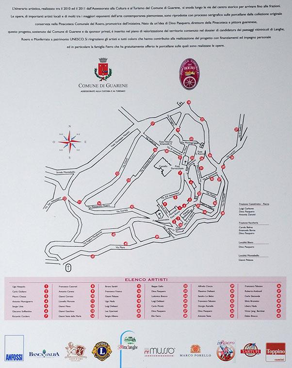 Mappa Itinerario Porcellane d'Autista